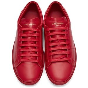 Saint Laurent Red Sneakers
